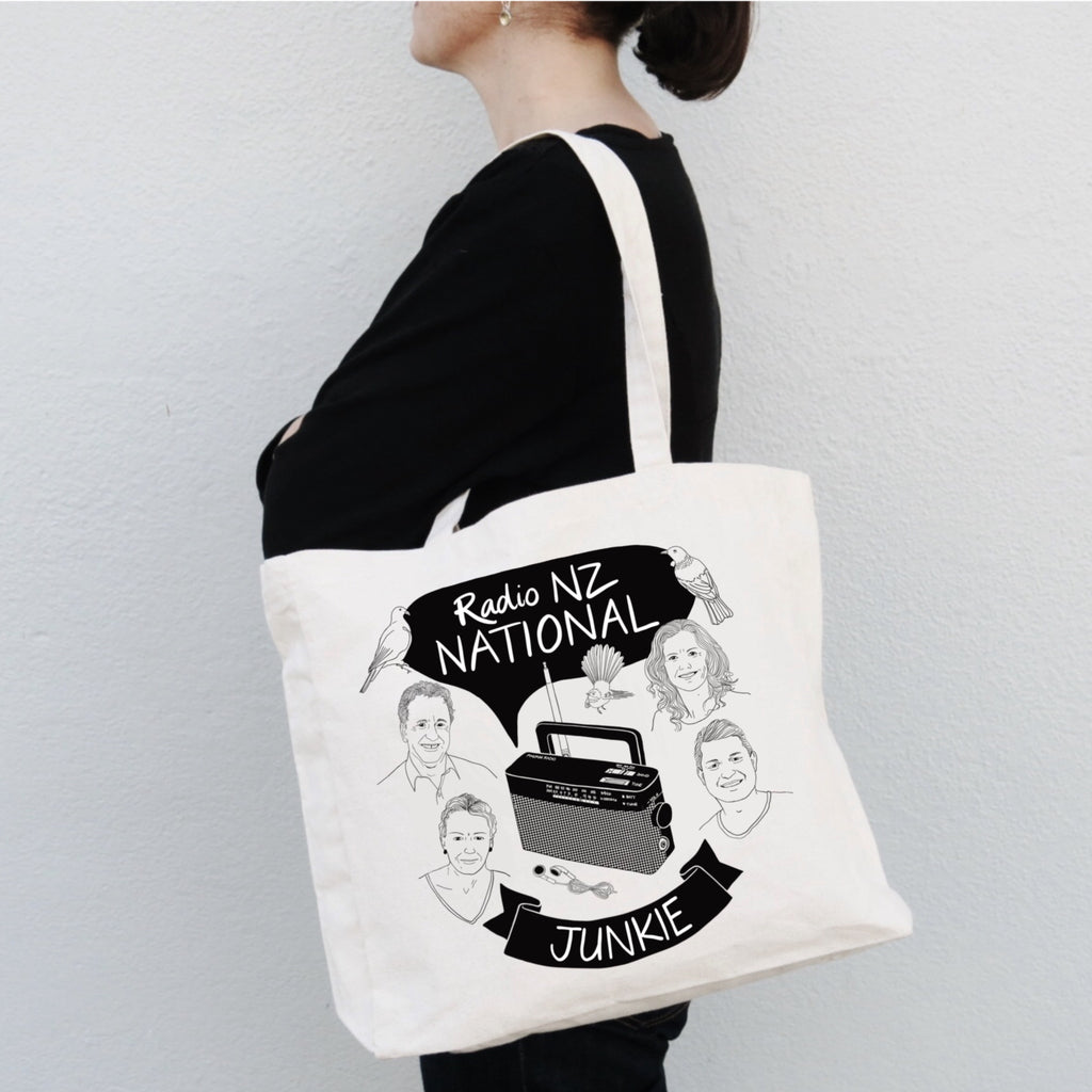Radio NZ National Junkie Tote Bag