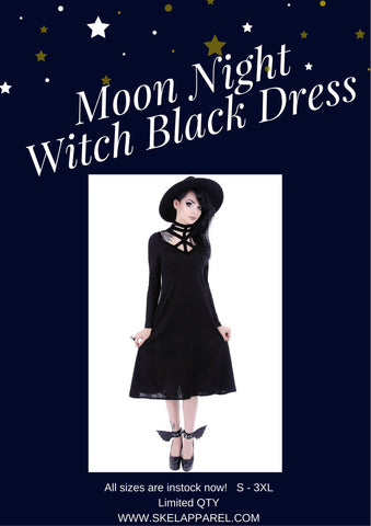 Witch Black dress by Restyle
