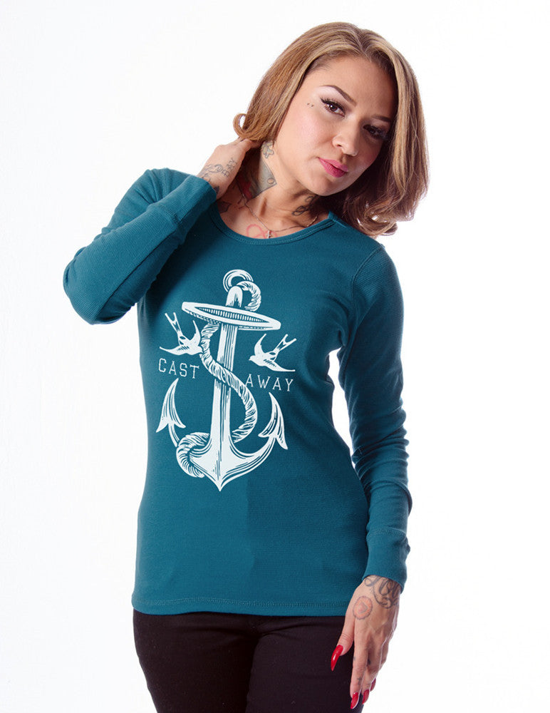 Anchor and Rope logo thermal long sleeves top