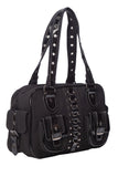 Lost Queen RHAPSODY Gothic Punk Emo Black Satchel Bag With Pockets