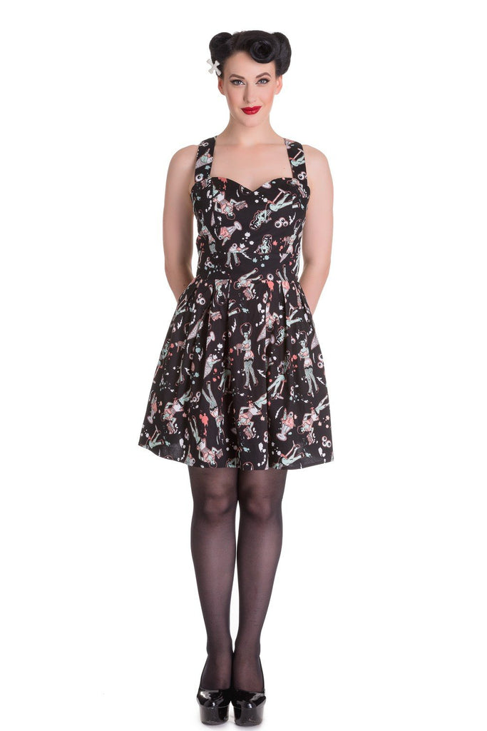 Hell Bunny Ice Scream Zombie Diner Mini Dress - Skelapparel