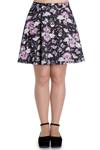 Candy Goth Lolita Skull Skater Mini Skirt - Skelapparel