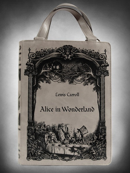 Gothic Lolita Handbag Lewis Carroll Alice In Wonderland Book Shape Handbag - Skelapparel