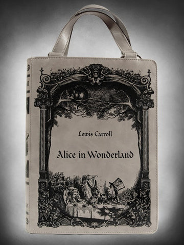 Carroll Alice In Wonderland Book Shape Handbag