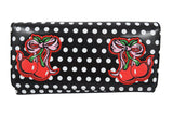 Cherry Polka Dot Rockabilly Pin-up Retro Wallet - Lucille Wallet - Skelapparel