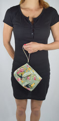 Liquorbrand wristlet purse Sparrows Green - Sparrow Fower Tattoo Small Bag - Skelapparel