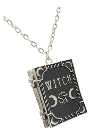 Restyle gypsy gothic dark magic witchcraft witch book locket pendant witchcraft spell book locket pendant aloadofball Images