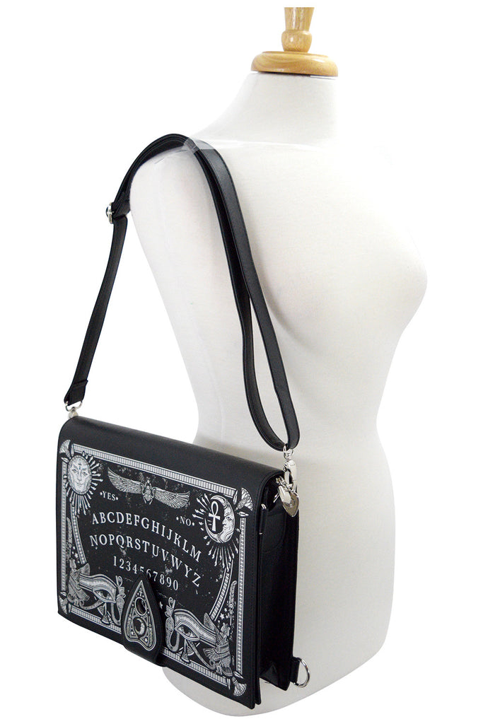 Gothic Black Magic Ouija Board & Planchette Ouija Board Shape Handbag - Skelapparel
