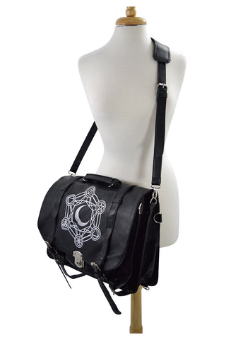 Restyle Gypsy Gothic Dark Magic Witchcraft Moon Messenger Expandable 3 Way Bag - Skelapparel - 1