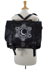 Restyle Gypsy Gothic Dark Magic Witchcraft Moon Messenger Expandable 3 Way Bag - Skelapparel - 2