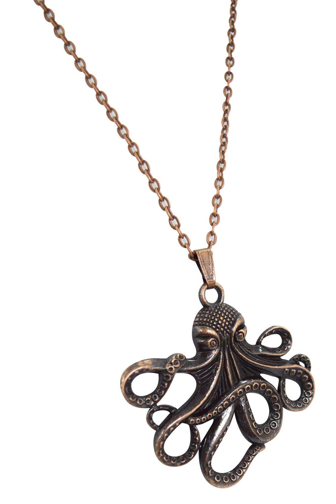 Steampunk Octopus pendant necklace