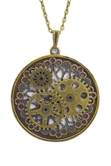 Victorian Steampunk gears necklace