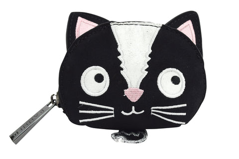 Black and White Cat Pocus Coin Purse
