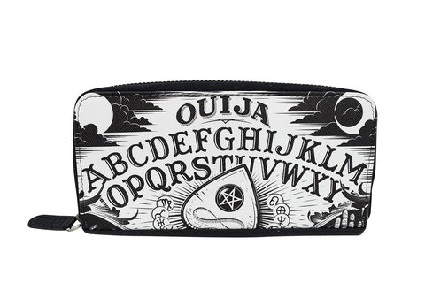 Liquor Brand Black Magic Ouija Board and Planchette Zip Around Clutch Wallet - Skelapparel