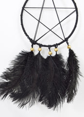 Nemesis Now Pentagram Black Feather Dreamcatcher Gothic Room Decor Gothic Gift