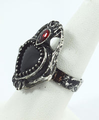 Restyle Sacred Heart Ring with Antler and poliched Stone