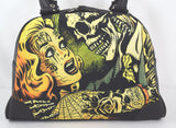 Liquorbrand Horror B Movie Poster Art Bowling Bag Purse Handbag