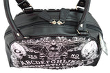 Liquor Brand OUIJA 50s Oldschool Tattoo Bowler BAG / Handbag Rockabilly - Skelapparel
