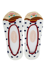 Kawaii Polka Dot Small World Holland Doll Cotton Hidden No-show Socks - 3 pairs - Skelapparel