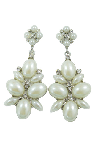 Victorian Pearl Flower design Earrings