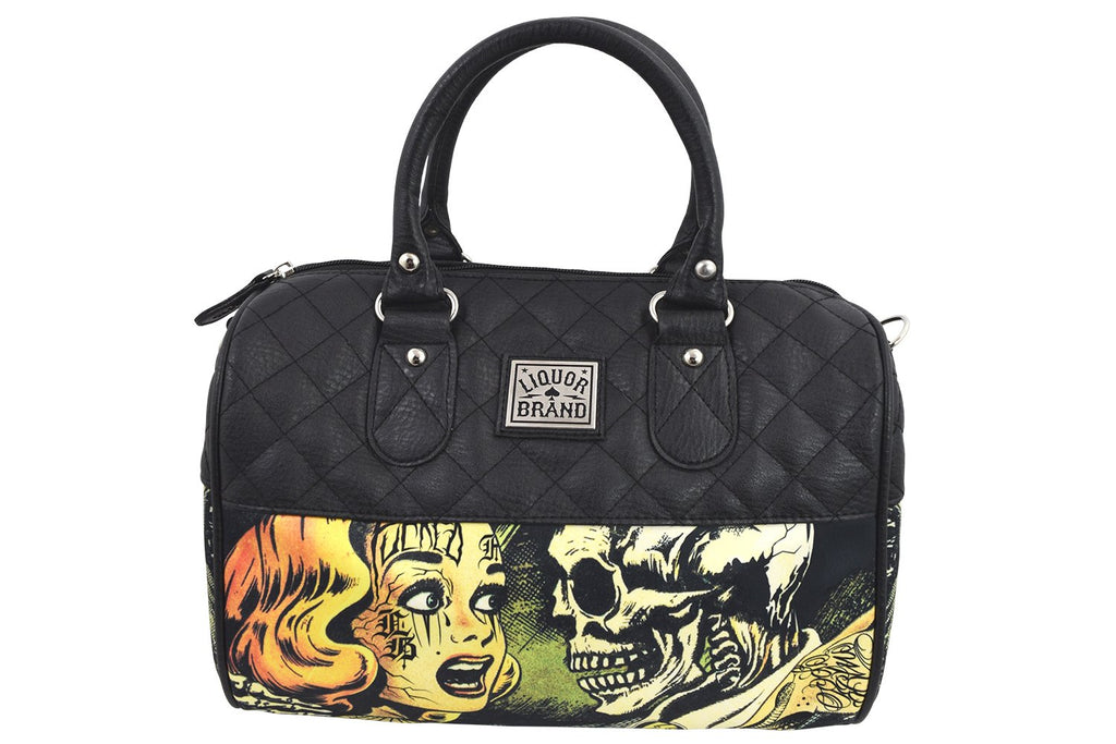 Liquorbrand Horror B Movie Cartoon Small Satchel Purse Crossbody bag - Skelapparel