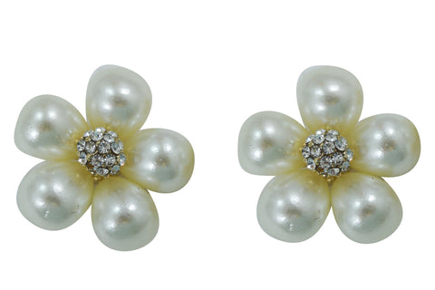 pearl flower wedding party earrings