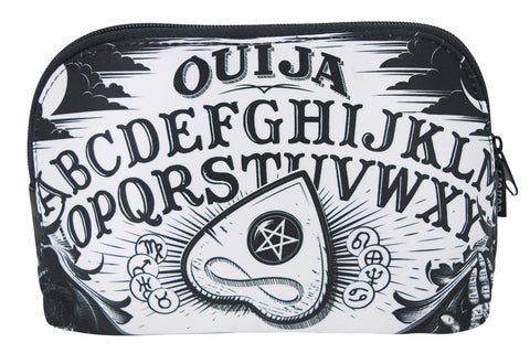 Ouija Spirit Board and Planchette Black Magic Makeup Cosmetic Bag - Skelapparel