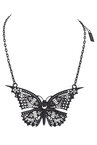 Restyle Gothic Butterfly Filigree  butterfly goth Pendant Necklace