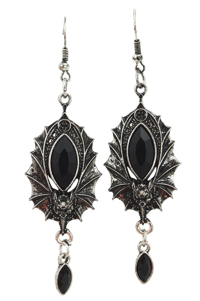 Restyle Victorian Bat Vampire night jeweled bat wings Earrings
