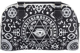 Banned Gothic Black Magic Occult Pentagram & Esoteric Symbols Bowler Bag - Skelapparel - 4
