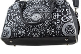 Banned Gothic Black Magic Occult Pentagram & Esoteric Symbols Bowler Bag - Skelapparel - 9