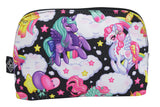 Liquorbrand Rockabilly Lolita Rainbows & Unicorn Pony Cosmetic Bag Pouch - Skelapparel