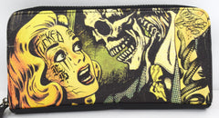 Liquorbrand Horror B Movie cartoon zip around clutch Wallet - Skelapparel