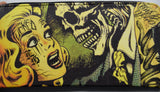 Liquorbrand Horror B Movie cartoon zip around clutch Wallet