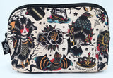 Traditional eagle Tattoo art cosmetic pouch
