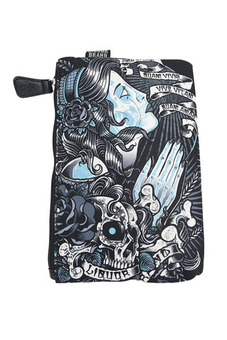 Liquor Brand Cosmetic Bag Gypsy Scrolls Tattoo Art makeup purse - Skelapparel