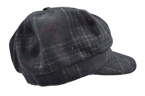 Dancing Days Bohemian Chic plaid Check newsboy Cabbie Cap Hat