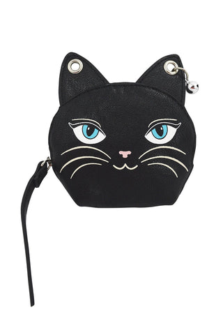 Emo Punk Meow Feline Black Cat Neko Coin Purse - Skelapparel