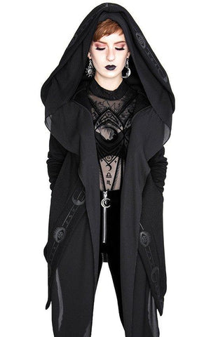 Restyel Fortune Teller Black Hoodie with Veil