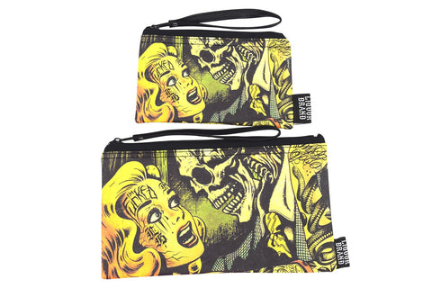 Liquorbrand Horror B Movie Poster wristlet pouch bag and Coin Purse - Skelapparel