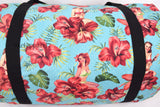 Liquorbrand Aloha Hula Girl Hawaiian Hibiscus Flower Art Oversized Duffel Bag - Skelapparel