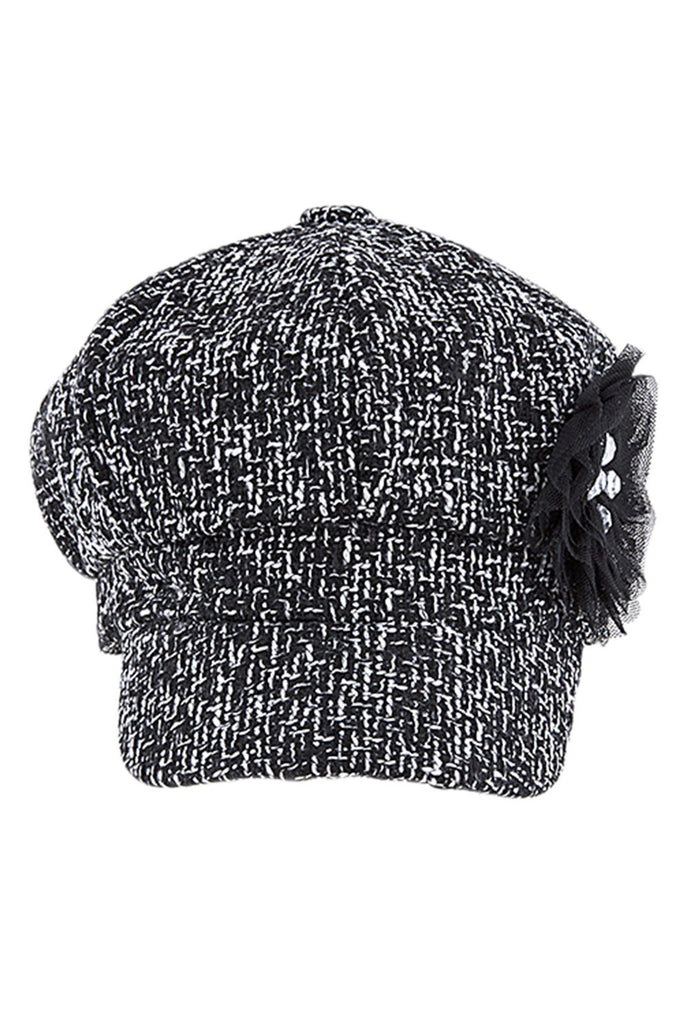 Women's Faux Wool Thick Panel Bohemian Chic Newsboy Cabbie Winter Cap Hat - Skelapparel