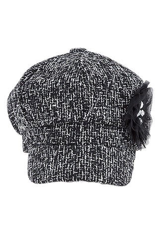 Women's Faux Wool Thick Panel Bohemian Chic Newsboy Cabbie Winter Cap Hat - Skelapparel - 1