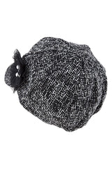 Women's Faux Wool Thick Panel Bohemian Chic Newsboy Cabbie Winter Cap Hat - Skelapparel - 2