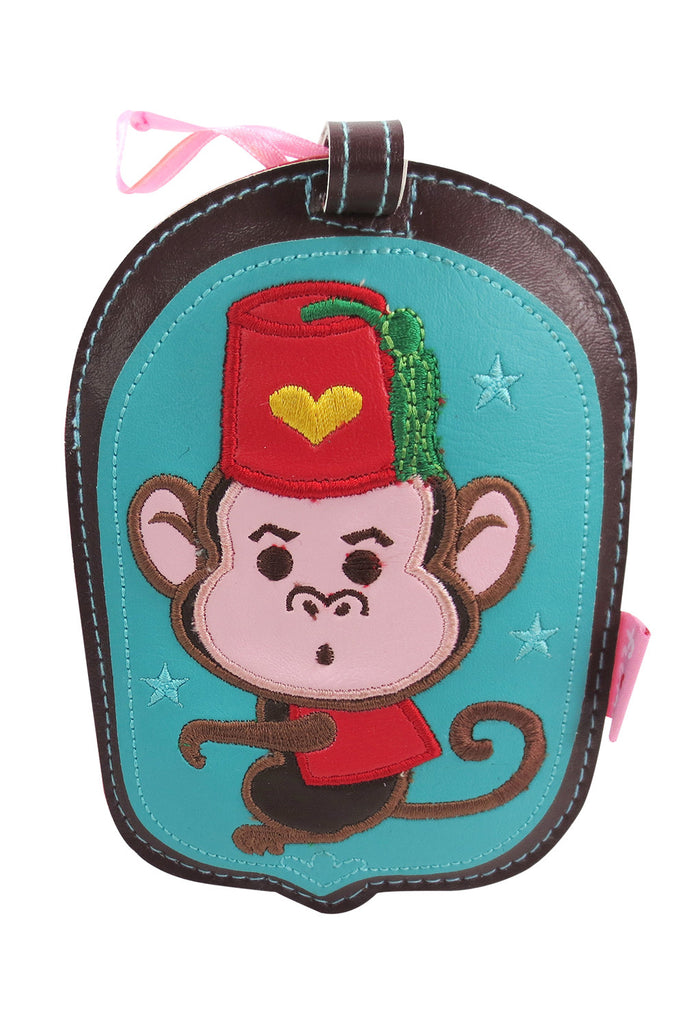 Fluff Funky Cute Critters & Animal Carnival Jam Luggage Tag - Skelapparel - 3