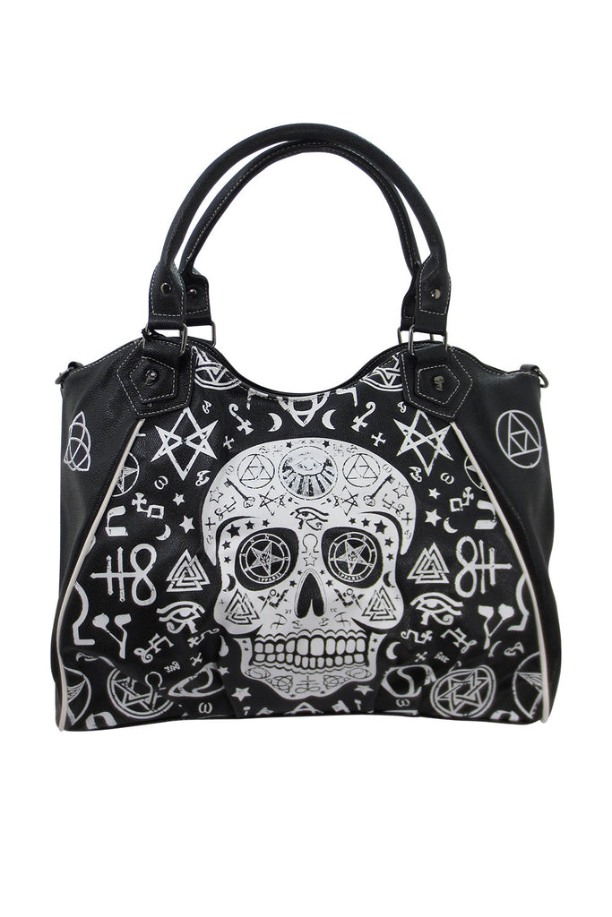 Gothic Rockabilly Skull Pentagram Shoulder Bag Purse - Skelapparel