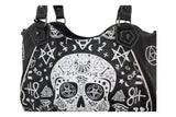 Banned Gothic Rockabilly Skull Pentagram Shoulder Bag - Purse - Skelapparel