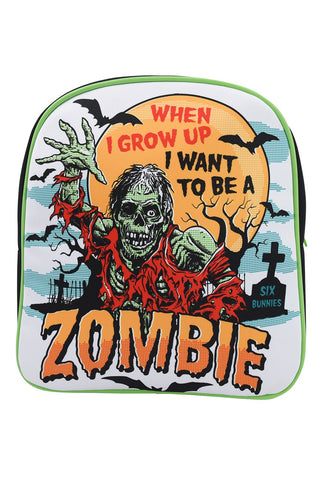 Six Bunnies When I Grow Up Zombie Kids Backpack - Skelapparel