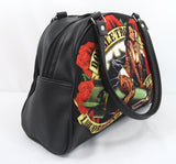 Liquorbrand Double Trouble Pin-Up Girl Rockabilly Punk Bowling Bag Purse Handbag - Skelapparel