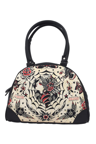 Liquor Brand Gypsy Queen Flash Tattoo Art Bowling Bag Purse Handbag - Skelapparel
